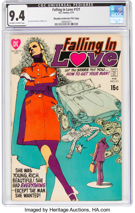 Falling in Love #121 Murphy Anderson File Copy (DC, 1971) CGC NM 9.4 Off-white to white pages....