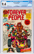 Bronze Age (1970-1979):Superhero, The Forever People #1 (DC, 1971) CGC NM 9.4 Off-white to white pages....