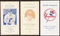 1932-51 New York Yankees Player Rosters & Itineraries Lot of 3