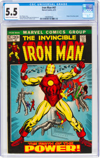 Iron Man #47 (Marvel, 1972) CGC FN- 5.5 Cream to off-white pages