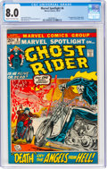 Bronze Age (1970-1979):Superhero, Marvel Spotlight #6 Ghost Rider (Marvel, 1972) CGC VF 8.0 Cream to off-white pages....