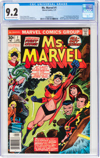 Ms. Marvel #1 (Marvel, 1977) CGC NM- 9.2 Off-white to white pages