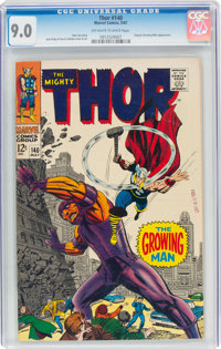 Thor #140 (Marvel, 1967) CGC VF/NM 9.0 Off-white to white pages