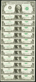 Complete District Star Set Fr. 1901-A*-L* $1 1963A Federal Reserve Star Notes Choice Crisp Uncirculated or Better. ... (...