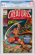 Bronze Age (1970-1979):Horror, Creatures on the Loose #10 (Marvel, 1971) CGC VF+ 8.5 Off-white to white pages....