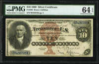Fr. 288 $10 1880 Silver Certificate PMG Choice Uncirculated 64 EPQ
