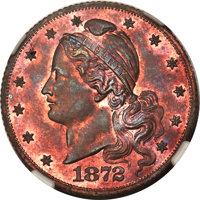 1872 $5 Amazonian Five Dollar, Judd-1241, Pollock-1383, R.6-7, PR64 Red and Brown NGC....(PCGS# 71513)