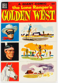 Golden Age (1938-1955):Western, Dell Giant Comics Lone Ranger's Golden West #3 File Copy (Dell, 1955) Condition: VF+....