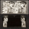 Baseball Collectibles:Others, 1930's Babe Ruth & 1940's U.S. President Harry Truman Stereo View Cards....