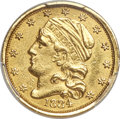 1834 $2 1/2 Capped Bust, BD-1, R.6 -- Repaired -- PCGS Genuine. AU Details....(PCGS# 45528)