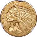 Indian Half Eagles, 1909-O $5 MS61+ NGC. Variety 1....