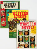 Golden Age (1938-1955):Humor, Dell Giant Comics Western Roundup #14, 15, and 22 (Dell, 1956-58) Condition: VF+.... (Total: 3 )