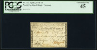 North Carolina April 2, 1776 $4 Bee Fr. NC-161a PCGS Extremely Fine 45