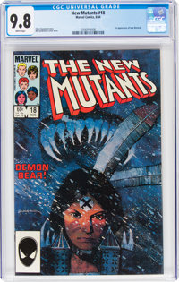 The New Mutants #18 (Marvel, 1984) CGC NM/MT 9.8 White pages