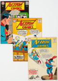 Silver Age (1956-1969):Superhero, Action Comics Group of 9 (DC, 1958-67) Condition: Average VG.... (Total: 9 Comic Books)