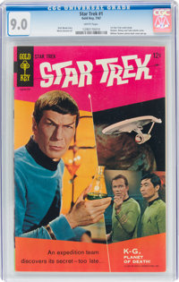 Star Trek #1 (Gold Key, 1967) CGC VF/NM 9.0 White pages