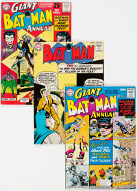 Batman Annual #2-4 Group (DC, 1962-64) Condition: Average FN+.... (Total: 4 Comic Books)
