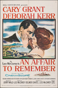 "An Affair to Remember (20th Century Fox, 1957). Folded, Fine/Very Fine. One Sheet (27"" X 41""). Romance"