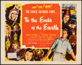 """Movie Posters:Exploitation, To the Ends of the Earth (Columbia, 1947). Folded, Very Fine. Half Sheet (22"""" X 28""""). Exploitation.. ..."""