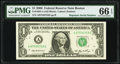 Small Size:Federal Reserve Notes, Repeater 67536753 Fr. 1932-A $1 2006 Federal Reserve Note. PMG Gem Uncirculated 66 EPQ.. ...