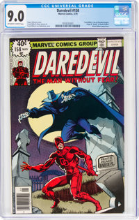 Daredevil #158 (Marvel, 1979) CGC VF/NM 9.0 Off-white to white pages