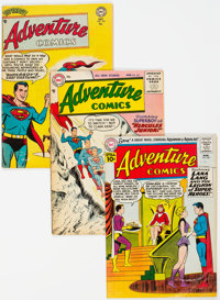 Adventure Comics Group of 9 (DC, 1951-63) Condition: Average GD-.... (Total: 9 Comic Books)