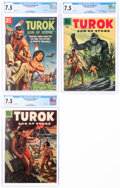 Silver Age (1956-1969):Adventure, Turok, Son of Stone #5, 6, and 9 CGC-Graded Group (Dell, 1956-60) CGC VF- 7.5.... (Total: 3 )