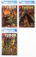 Silver Age (1956-1969):Adventure, Turok, Son of Stone #7, 9, and 10 CGC-Graded Group (Dell, 1957-58).... (Total: 3 )