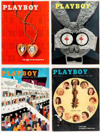 Playboy 1956 Complete Year Group of 12 (HMH Publishing, 1956) Condition: Average FN+.... (Total: 12 Items)