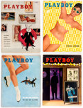 Magazines:Miscellaneous, Playboy 1958 Complete Year Group of 12 (HMH Publishing, 1958) Condition: Average FN.... (Total: 12 Items)