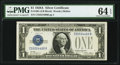 Fancy Serial Number. Fr. 1601 $1 1928A Silver Certificate. PMG Choice Uncirculated 64 EPQ