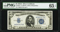 Small Size:Silver Certificates, Fr. 1651* $5 1934A Star Silver Certificate. PMG Gem Uncirculated 65 EPQ.. ...