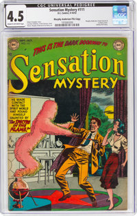 Sensation Mystery #111 Murphy Anderson File Copy (DC, 1952) CGC VG+ 4.5 Cream to off-white pages