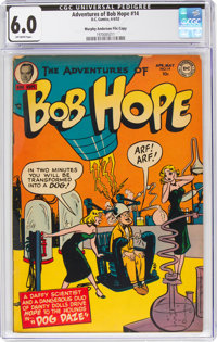 The Adventures of Bob Hope #14 Murphy Anderson File Copy (DC, 1952) CGC FN 6.0 Off-white pages