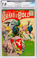 Golden Age (1938-1955):Adventure, The Brave and the Bold #1 Murphy Anderson File Copy (DC, 1955) CGC FN/VF 7.0 Off-white to white pages....