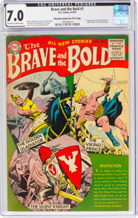 The Brave and the Bold #1 Murphy Anderson File Copy (DC, 1955) CGC FN/VF 7.0 Off-white to white pages