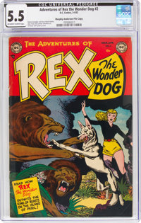 Adventures of Rex the Wonder Dog #2 Murphy Anderson File Copy (DC, 1952) CGC FN- 5.5 Off-white to white pages