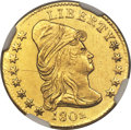 Early Quarter Eagles, 1802 $2 1/2 BD-1, R.4, MS61 NGC....