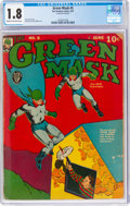 Golden Age (1938-1955):Superhero, Green Mask #5 (Fox Features Syndicate, 1941) CGC GD- 1.8 Cream to off-white pages....