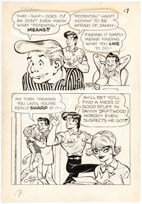 Al Capp and Frank Frazetta Li'l Abner and the Creatures from Drop-Outer Space (#nn) Page 17 Original Art (United F