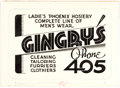 Original Comic Art:Illustrations, Edgar Church Gingry's Decorative Advertising Original Art (Ideal Art Service, 1939). ...