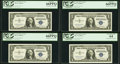 Fr. 1619 $1 1957 Silver Certificates. Twenty Consecutive Examples. PCGS Graded. ... (Total: 20)