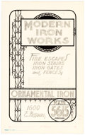 Original Comic Art:Illustrations, Edgar Church Modern Iron Works Decorative Advertising Original Art (Ideal Art Service, 1940)....