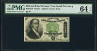 Fr. 1379 50¢ Fourth Issue Dexter PMG Choice Uncirculated 64 EPQ