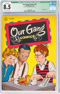 Golden Age (1938-1955):Humor, Our Gang Comics #29 (Dell, 1946) CGC Qualified VF+ 8.5 Off-white to white pages....