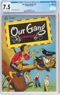 Golden Age (1938-1955):Humor, Our Gang Comics #26 (Dell, 1946) CGC VF- 7.5 Off-white to white pages....