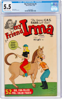 My Friend Irma #6 (Marvel, 1950) CGC FN- 5.5 Off-white to white pages
