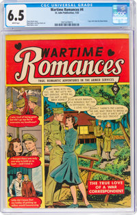 Wartime Romances #4 (St. John, 1952) CGC FN+ 6.5 White pages
