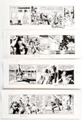 Greg and Tim Hildebrandt Terry and the Pirates Daily Comic Strip Original Art Group of 4 (Tribune Media Service, 1... (T...