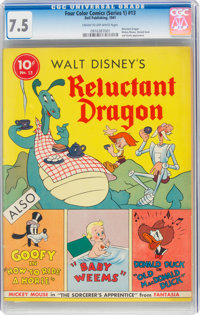 Four Color (Series One) #13 The Reluctant Dragon (Dell, 1941) CGC VF- 7.5 Cream to off-white pages